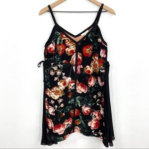NWT Foxiedox | Floral Side Tie Layered Dress